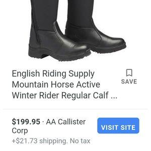 EUC mountain horse boots